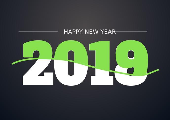 2018 Illustration de bonne année vecteur
