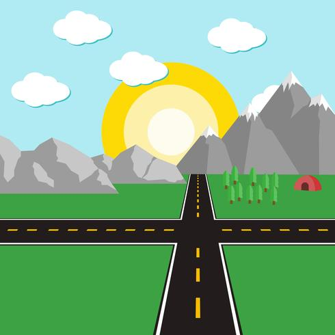 Vecteur de route route