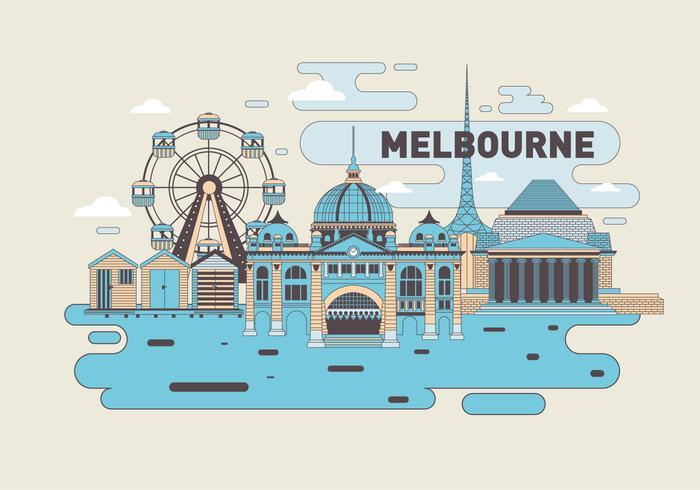 Vecteur de repère de Melbourne