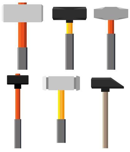 Icônes plates de vecteur Sledgehammer