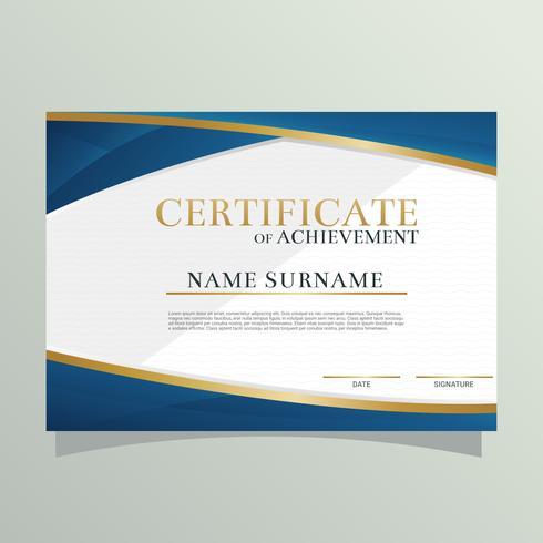 Vecteur de certificat de diplôme