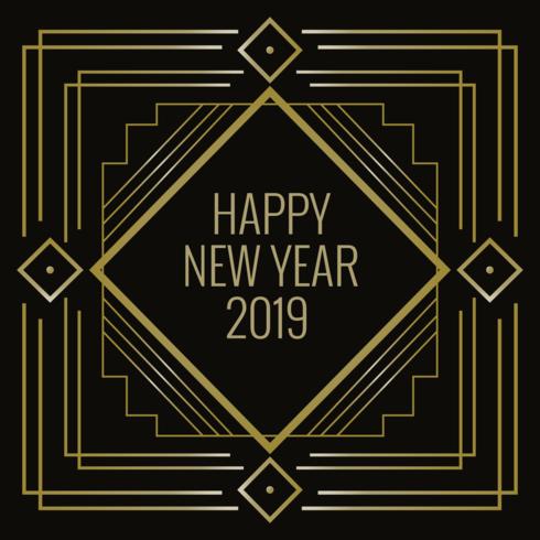 Bonne année dans le style Art déco vecteur