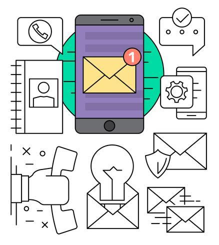 Icônes de communication gratuites vecteur