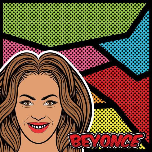 Beyonce Pop Art Vecteur de fond
