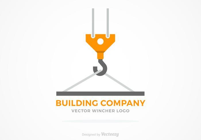 Concept de Logo vectoriel de construction de treuil