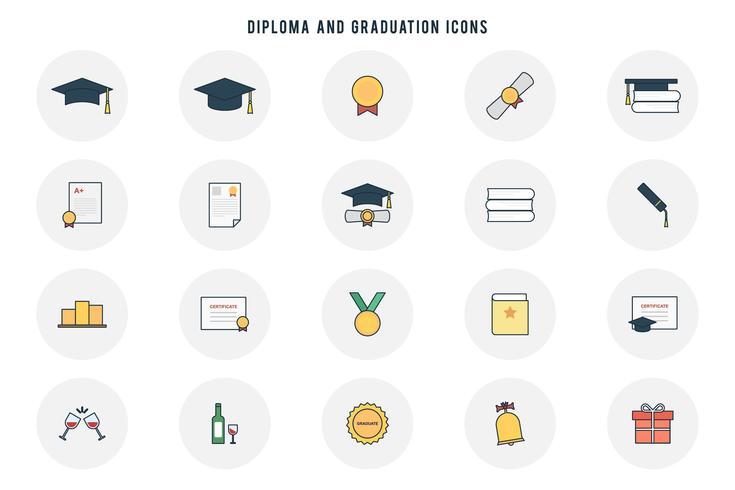 Vecteurs de diplôme et de graduation gratuits vecteur