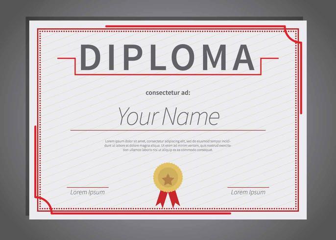 Illustration De Modele De Diplome Gratuit Telecharger Vectoriel Gratuit Clipart Graphique Vecteur Dessins Et Pictogramme Gratuit