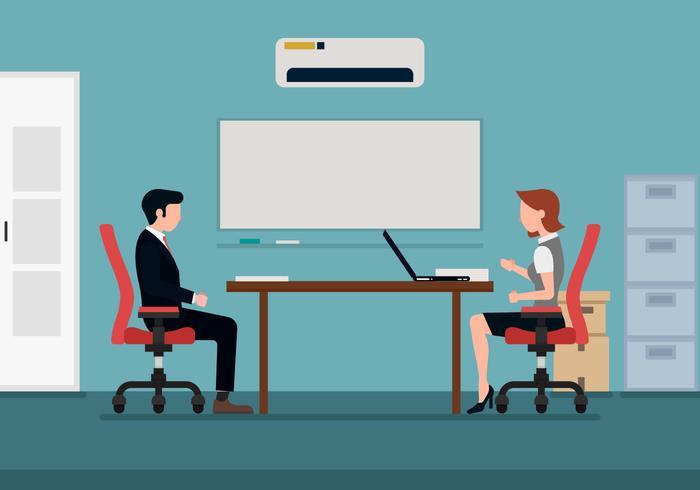 Illustration de discussion homme et femme vecteur