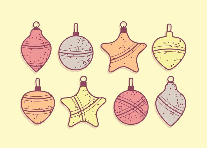 Vecteur gratuit de boules de Noël