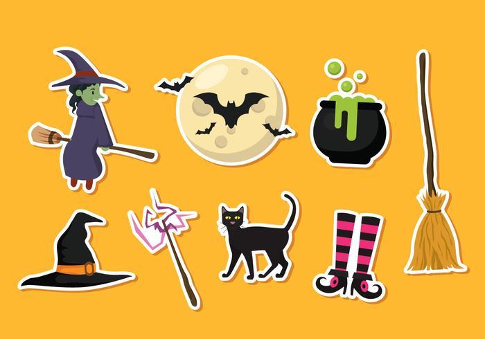 Autocollants de Halloween Icônes vectorielles vecteur