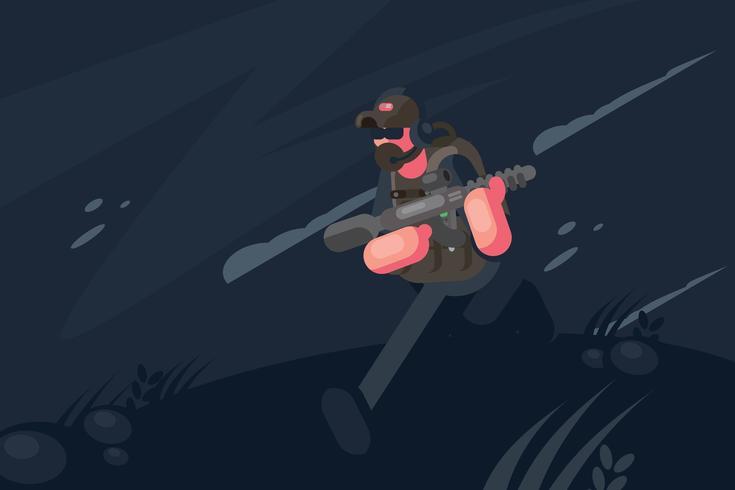 Illustration de la marine vecteur