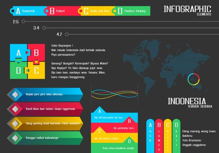 Vecteur gratuit d'éléments infographiques