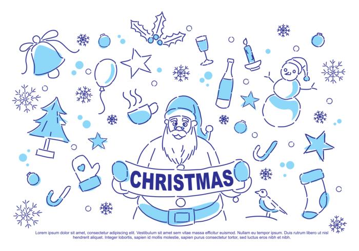 Illustration vectorielle de Noël Doodle vecteur