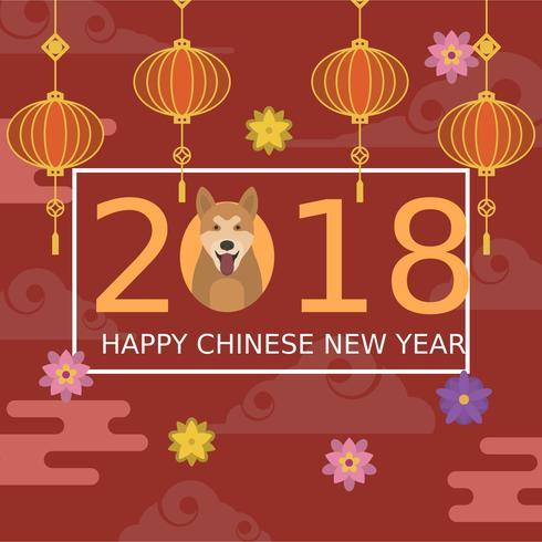 Illustration vectorielle de plat nouvel an chinois vecteur
