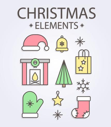 Vecteur gratuit d'éléments de Noël