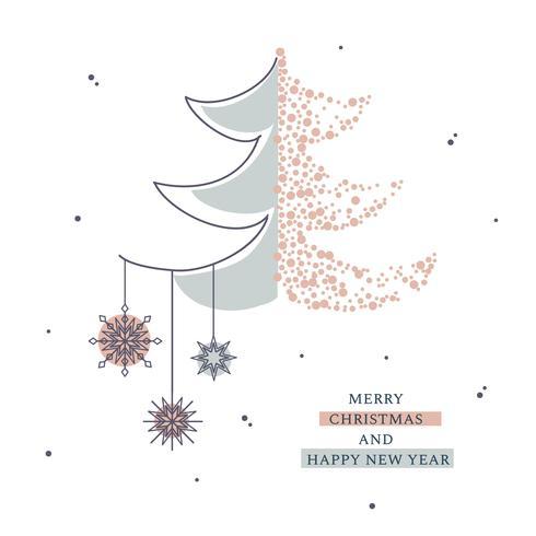 Carte de Noël minimale vecteur