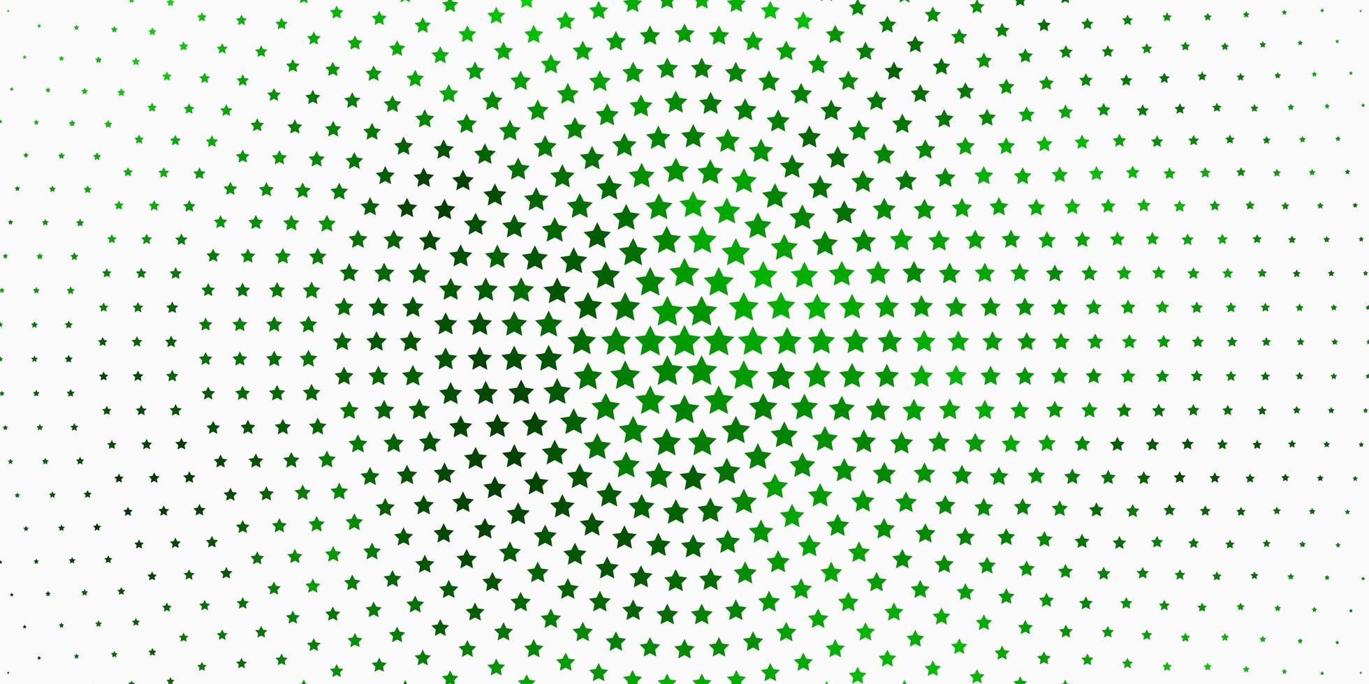 fond vert clair avec des étoiles colorées. vecteur