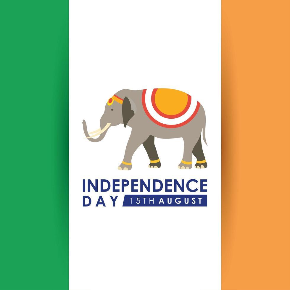 bannière de célébration de la fête de l'indépendance de l'inde vecteur