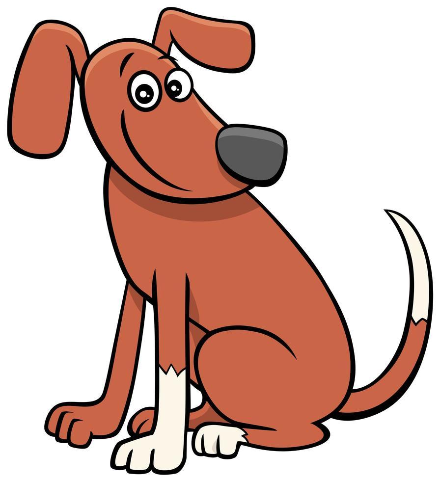 dessin animé chien ou chiot personnage animal comique vecteur