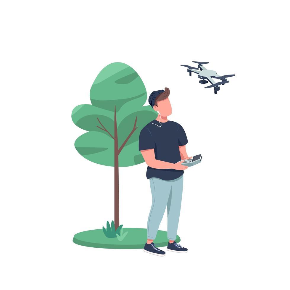 homme avec drone vecteur