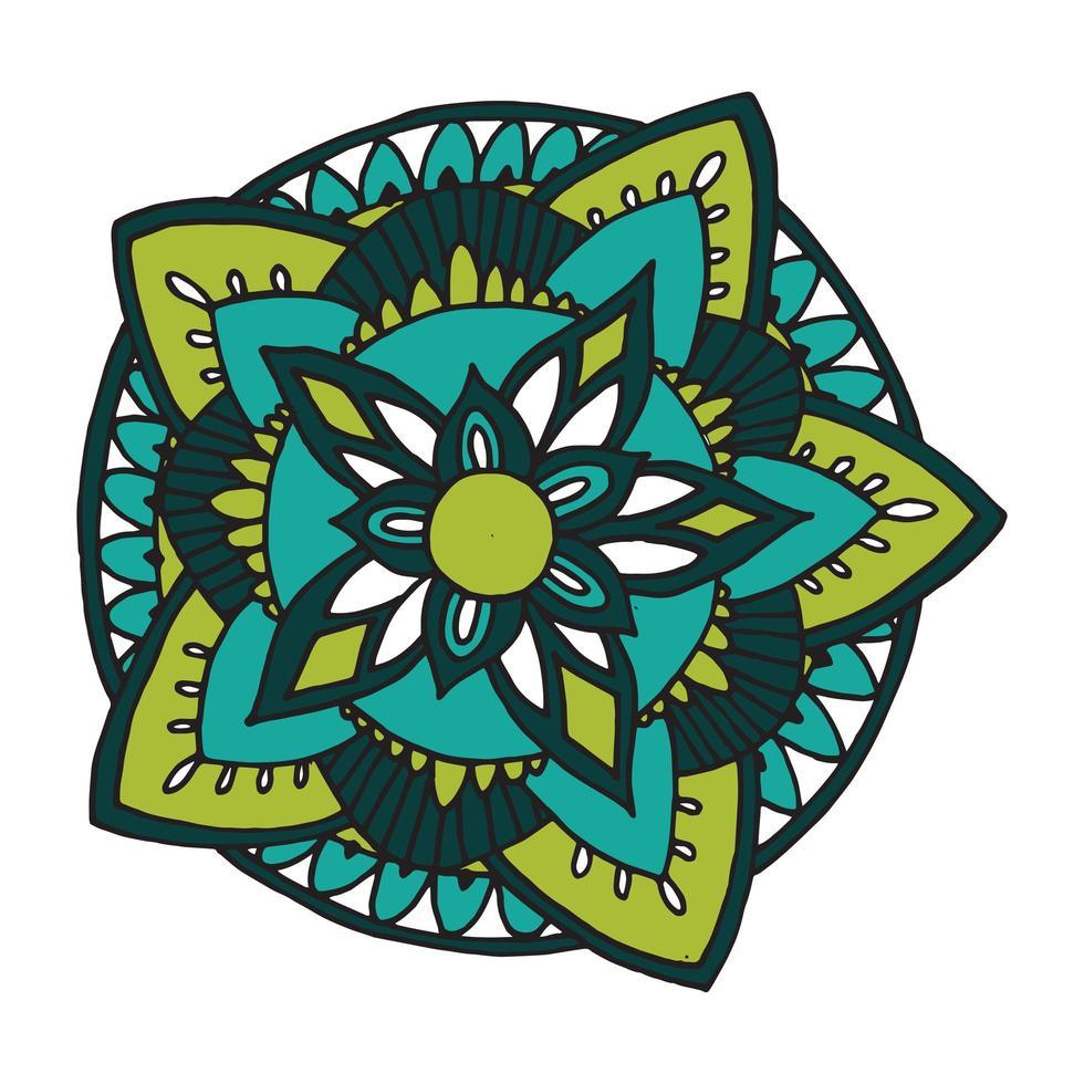 mandala zentangle pour cahier de coloriage vecteur