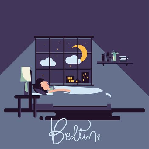 Illustration vectorielle de coucher vecteur