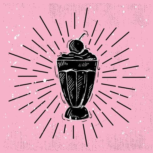 Illustration de crème glacée vectorielle dessinés à la main vecteur