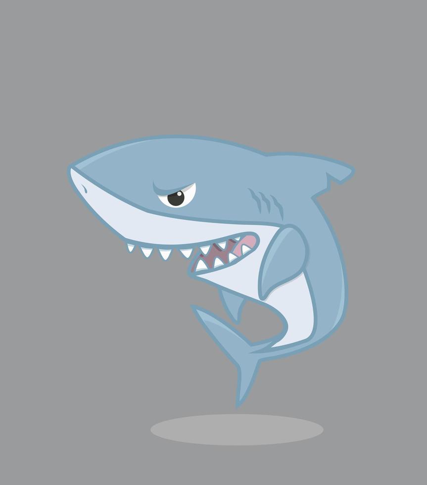 requin de dessin animé mignon vecteur