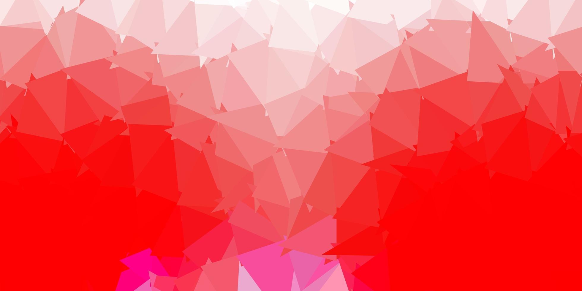fond d'écran polygonale géométrique rouge clair. vecteur