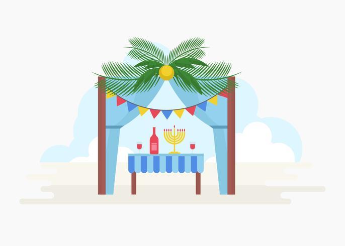 Illustration vectorielle de Soukkah décoratif gratuit vecteur