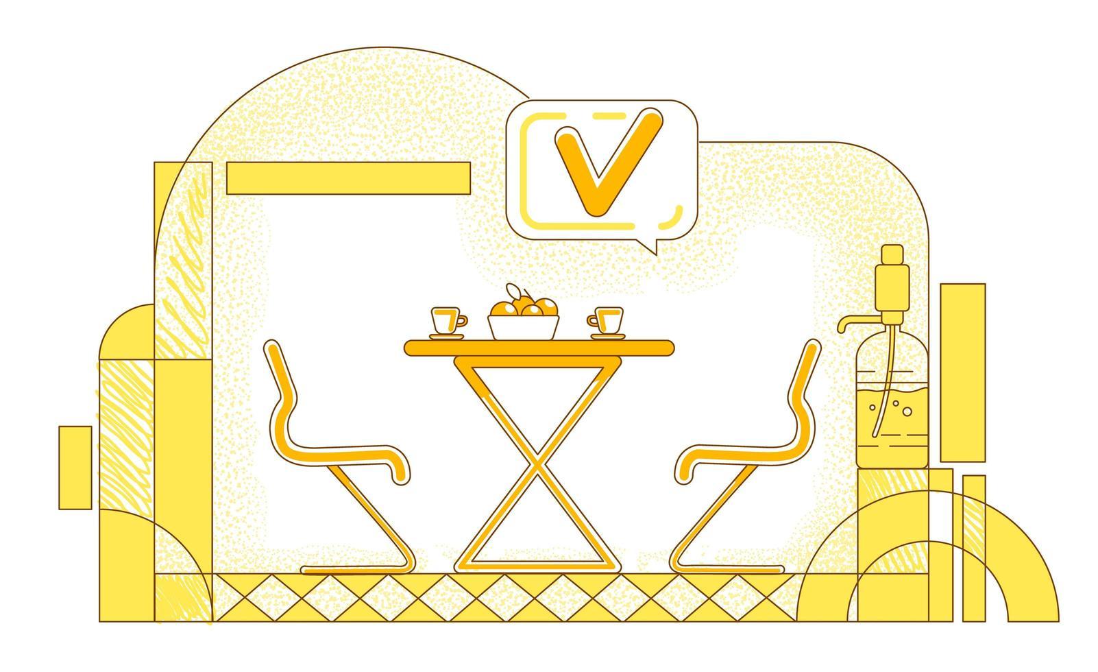 conception de ligne de cafétéria d'entreprise vecteur