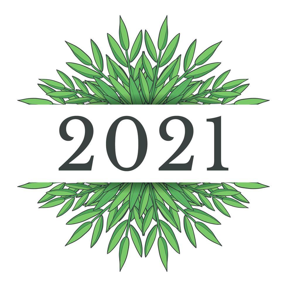 conception du nouvel an 2021 vecteur