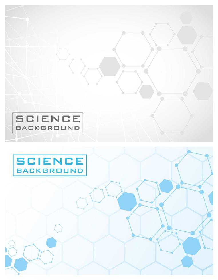 formation scientifique sertie de lignes et de structures vecteur