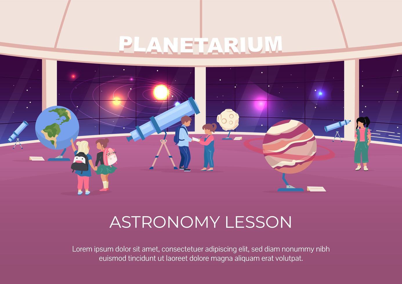 affiche de leçon d'astronomie vecteur