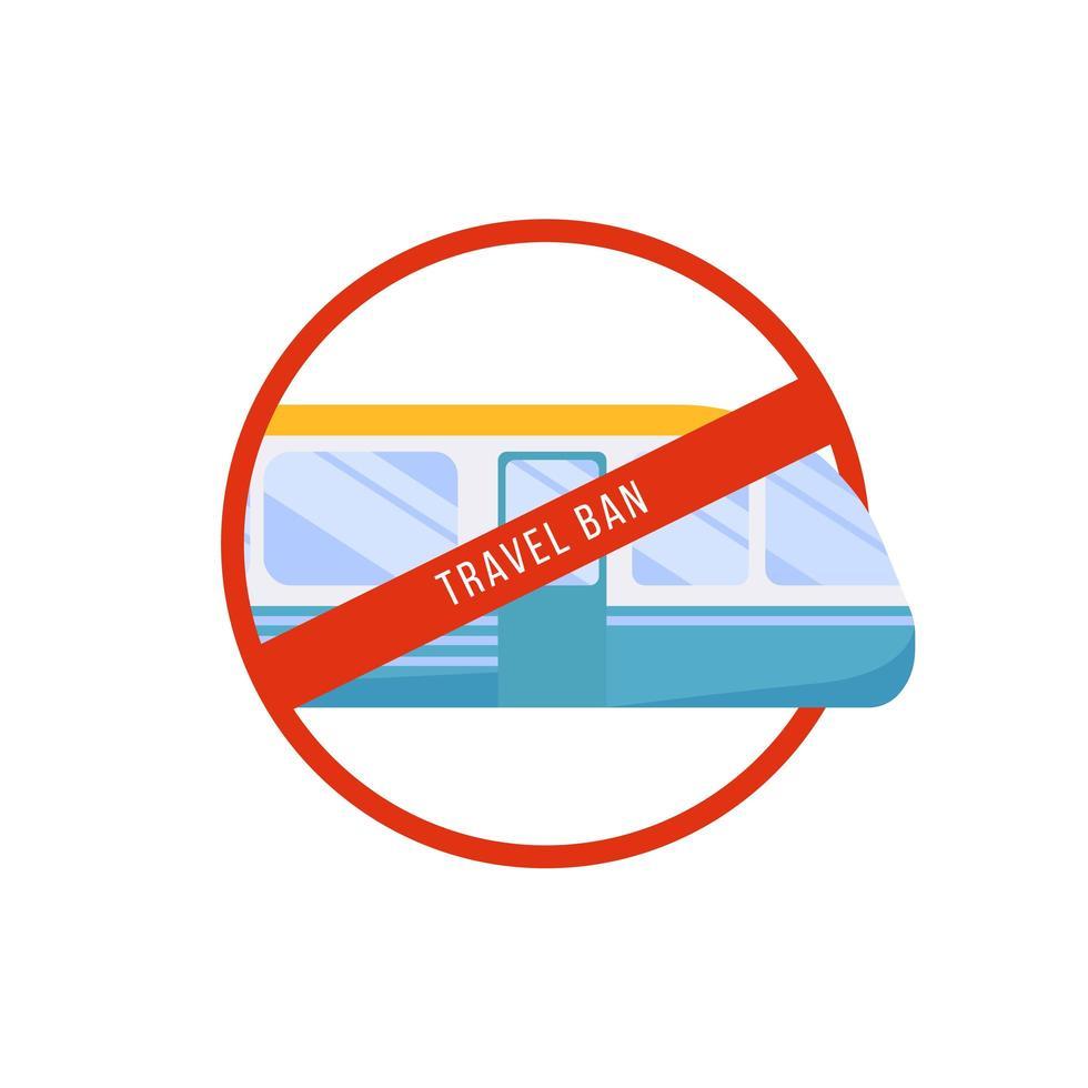 signe d'interdiction de voyage vecteur