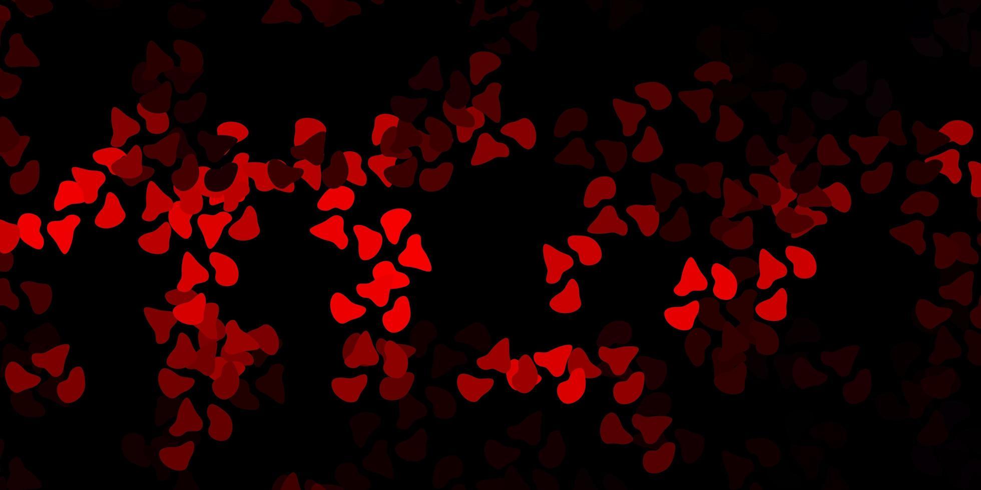 toile de fond rouge foncé avec des formes chaotiques. vecteur