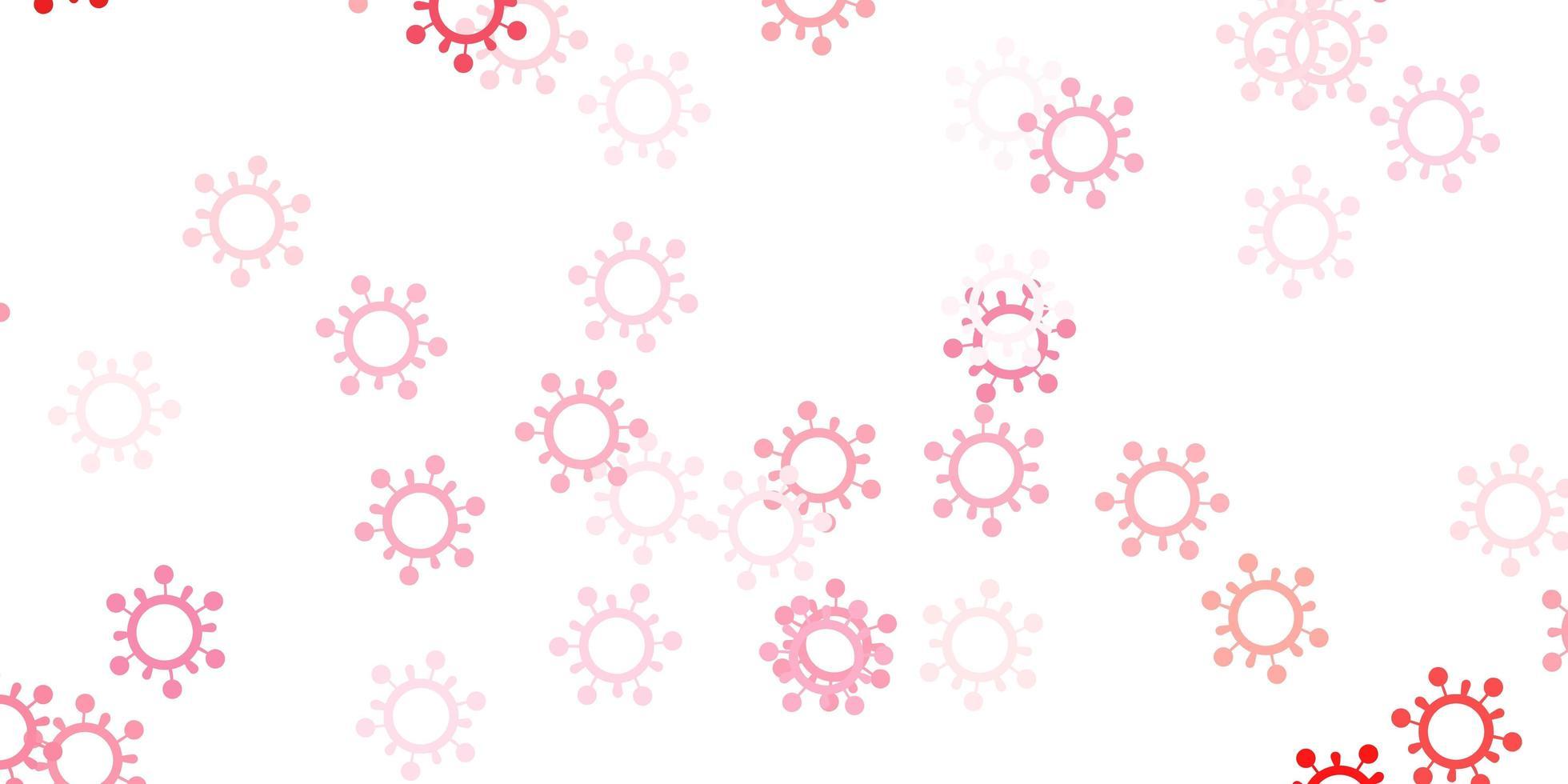 modèle rouge clair avec des signes de grippe. vecteur