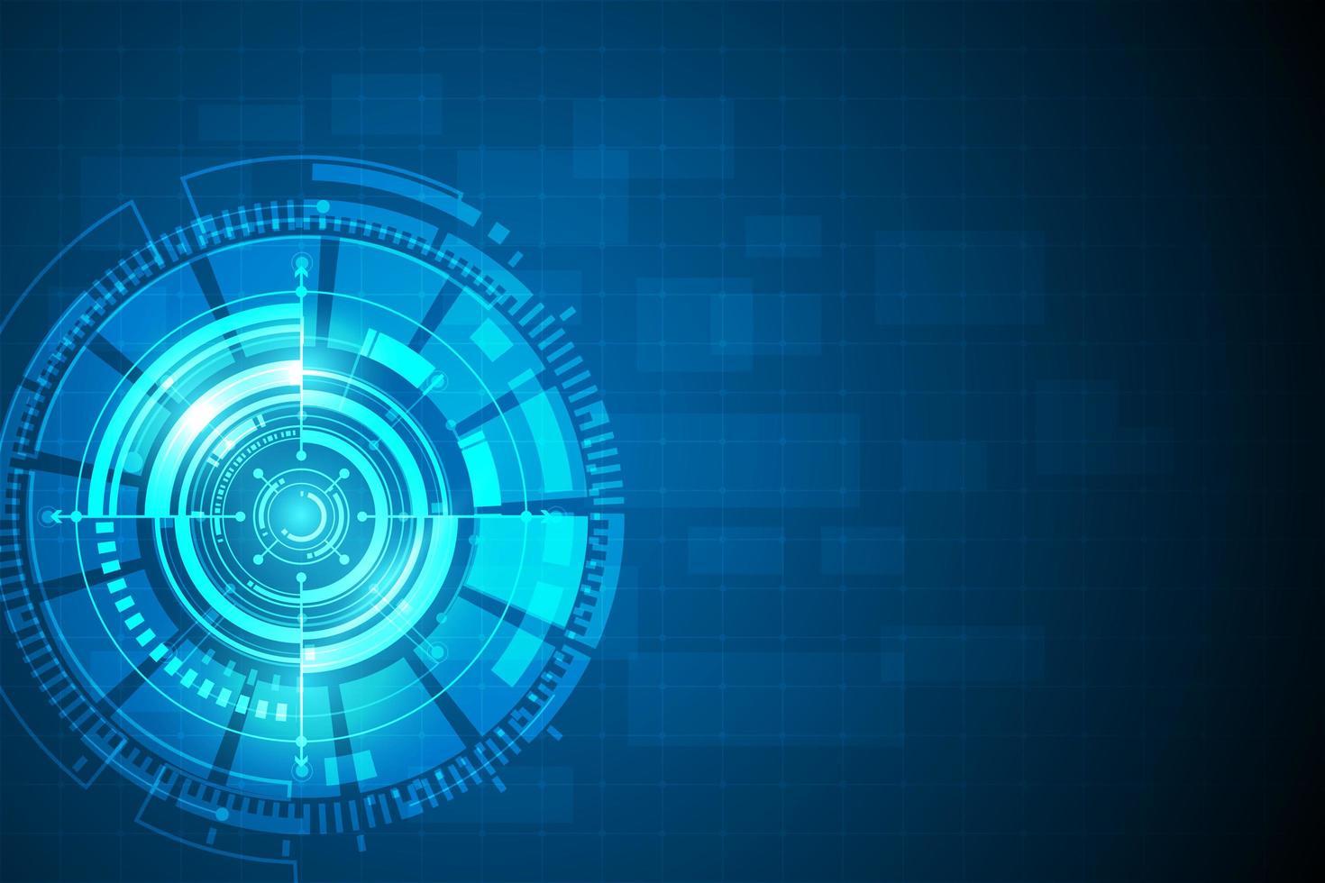 concept d'innovation technologique abstrait cercle bleu vecteur