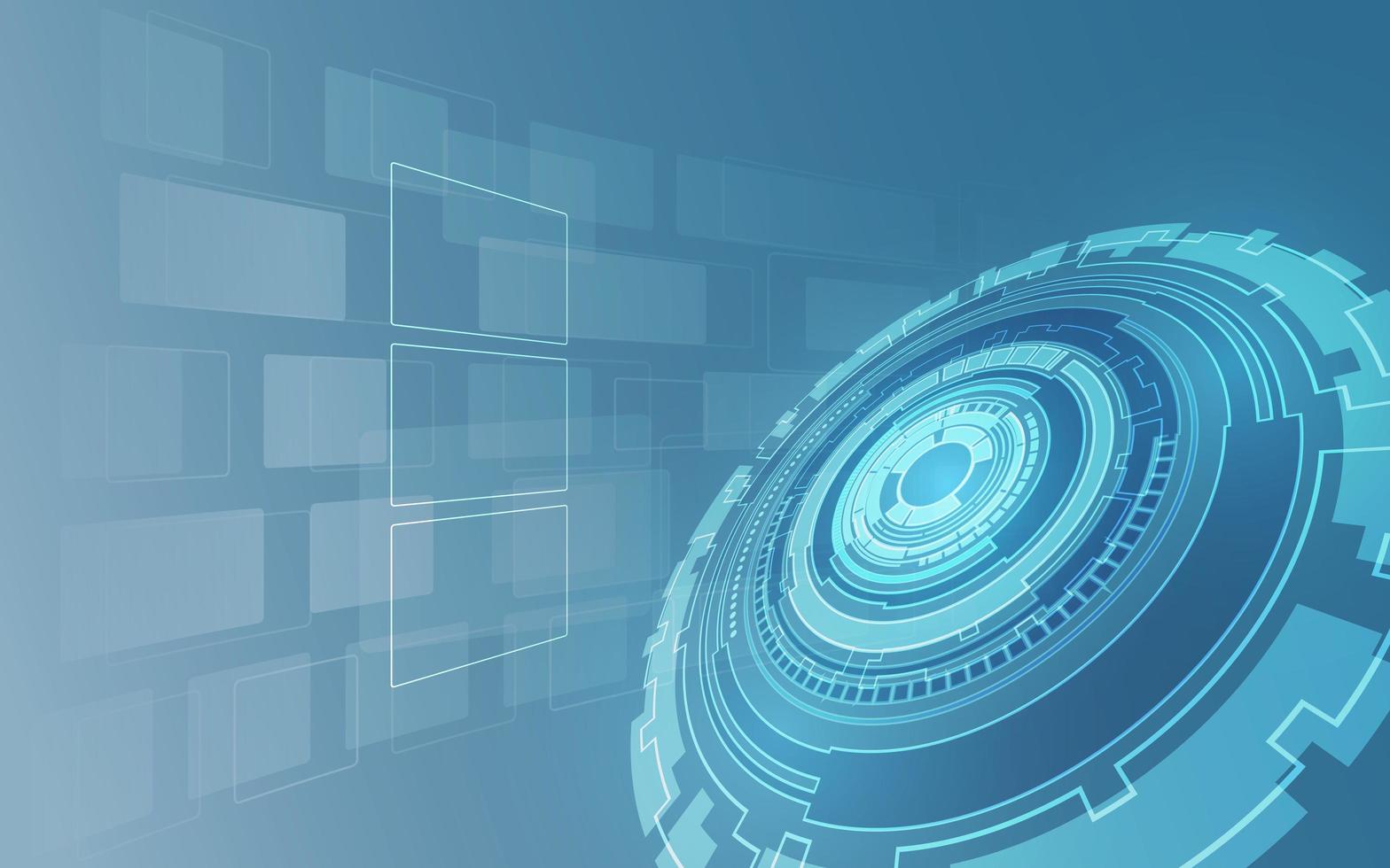 fond de concept futuriste numérique tech sci fi vecteur