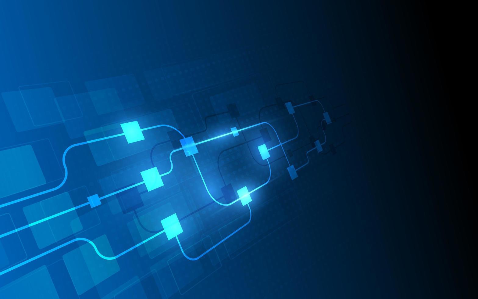 fond de blockchain circuit abstrait vecteur