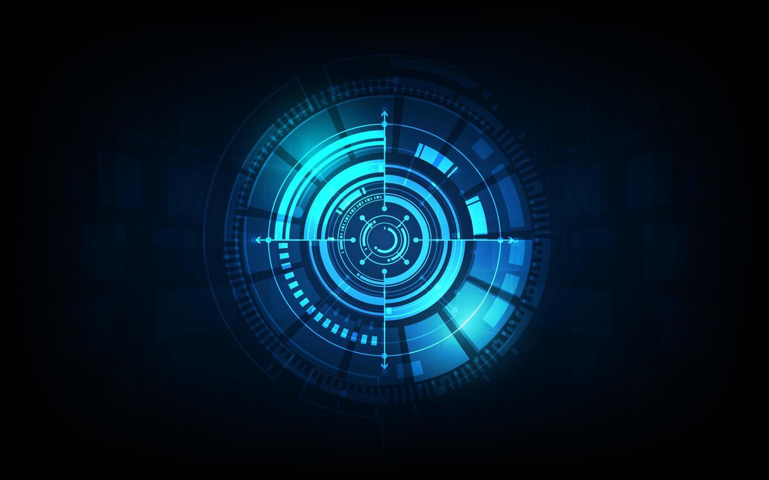 fond de concept futuriste de technologie de science-fiction vecteur