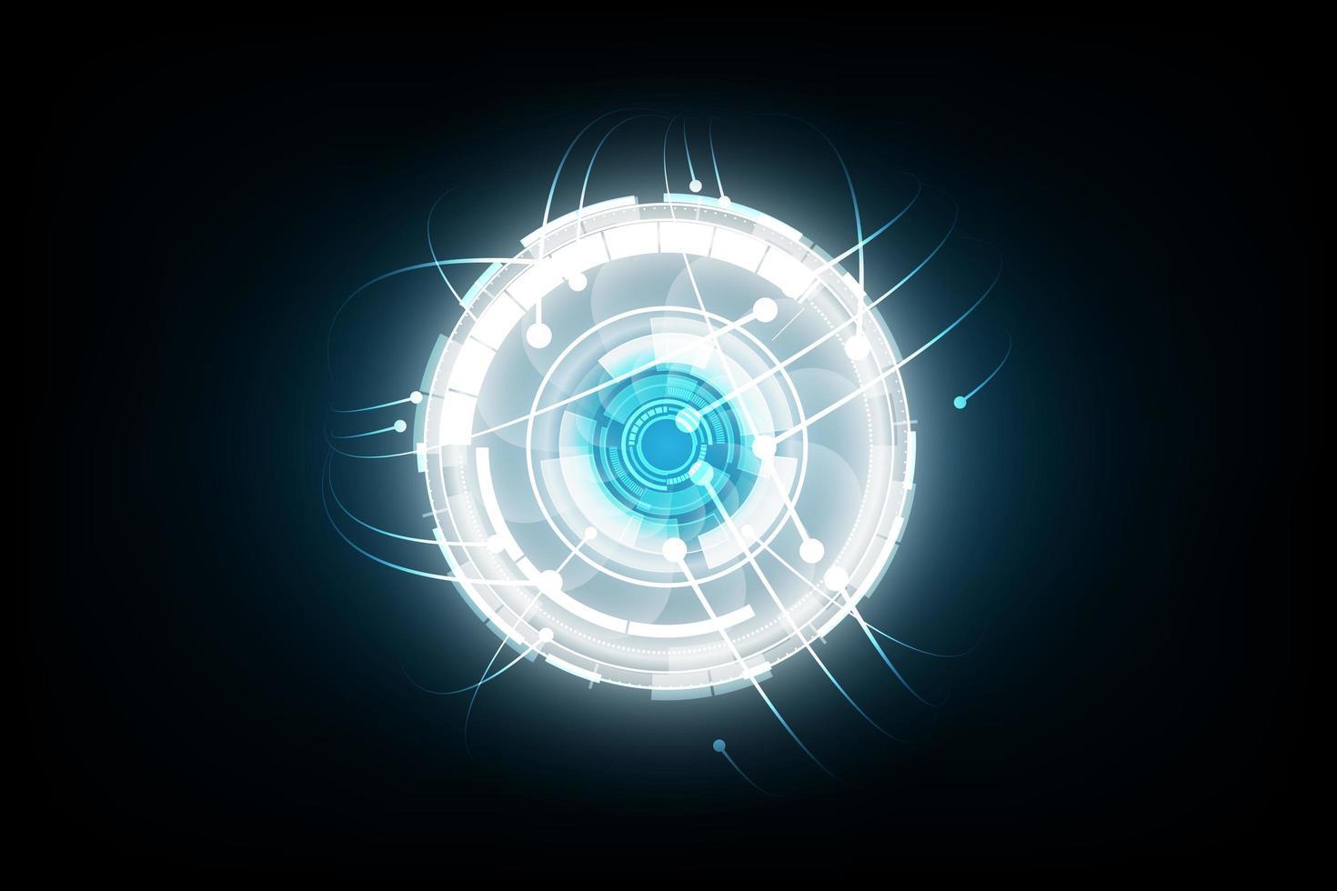 fond de concept de technologie abstraite, illustration vectorielle vecteur