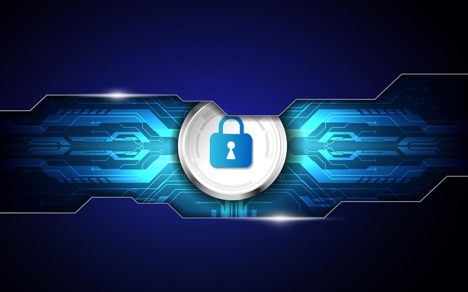 fond de technologie numérique de sécurité abstraite vecteur