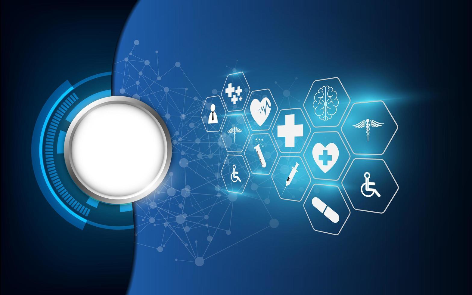 fond abstrait icônes médicales vecteur