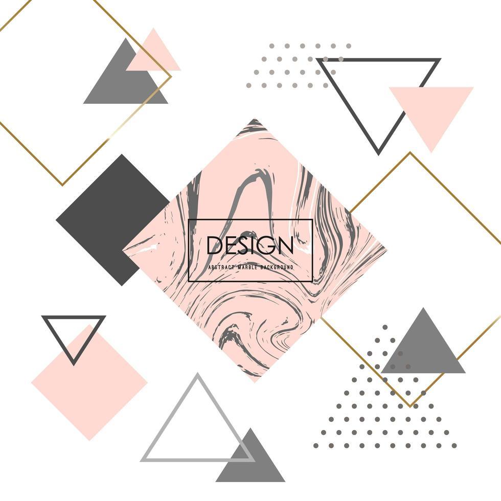 fond géométrique minimaliste à la mode. vecteur