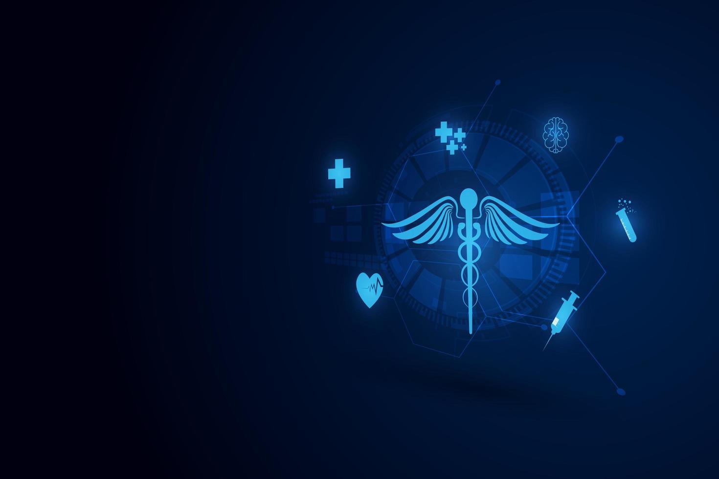 fond de concept d'innovation de technologie médicale vecteur