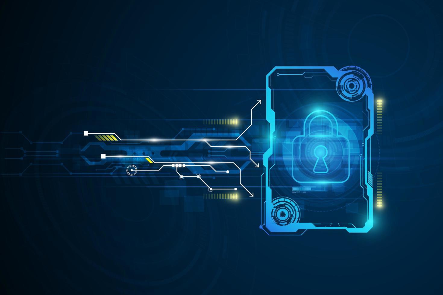 fond de circuit de technologie abstraite vecteur