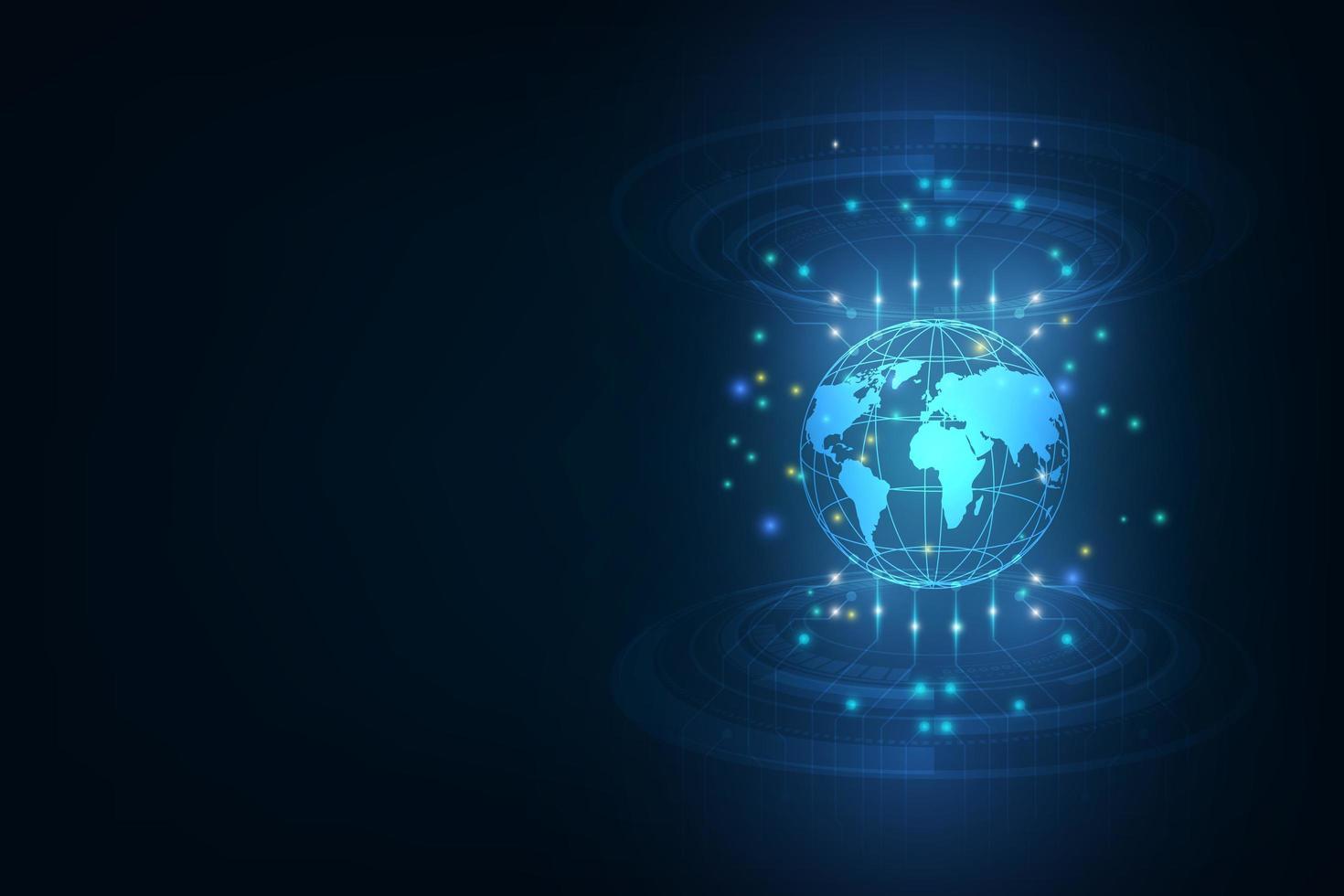 fond de transfert de données mondial de haute technologie vecteur