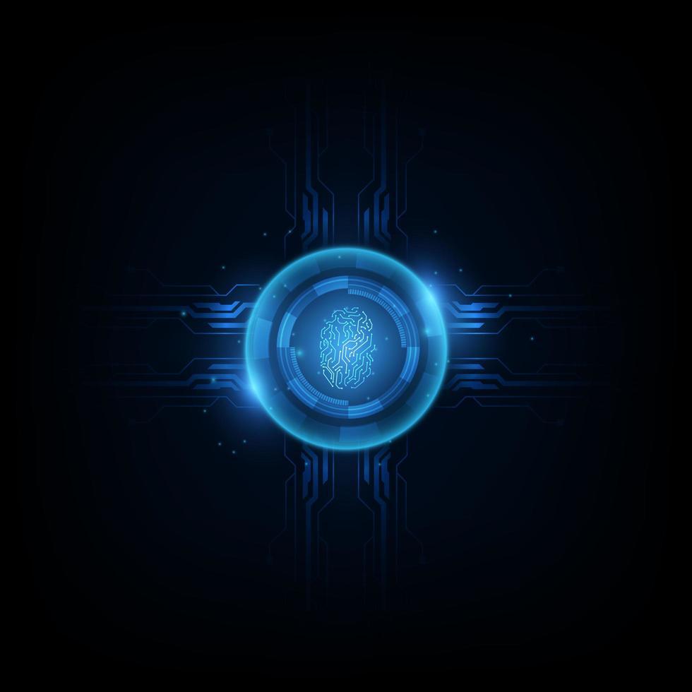 fond abstrait technologie futuriste vecteur