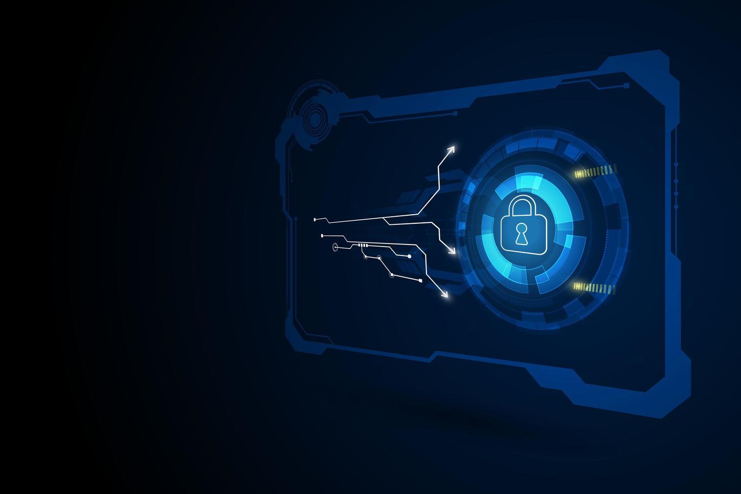 fond abstrait de sécurité de haute technologie vecteur